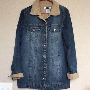 🧥Old navy woman's jean jacket size large